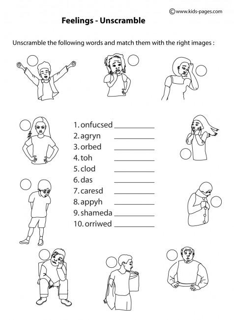 Printable Preschool Feelings Worksheets 419965