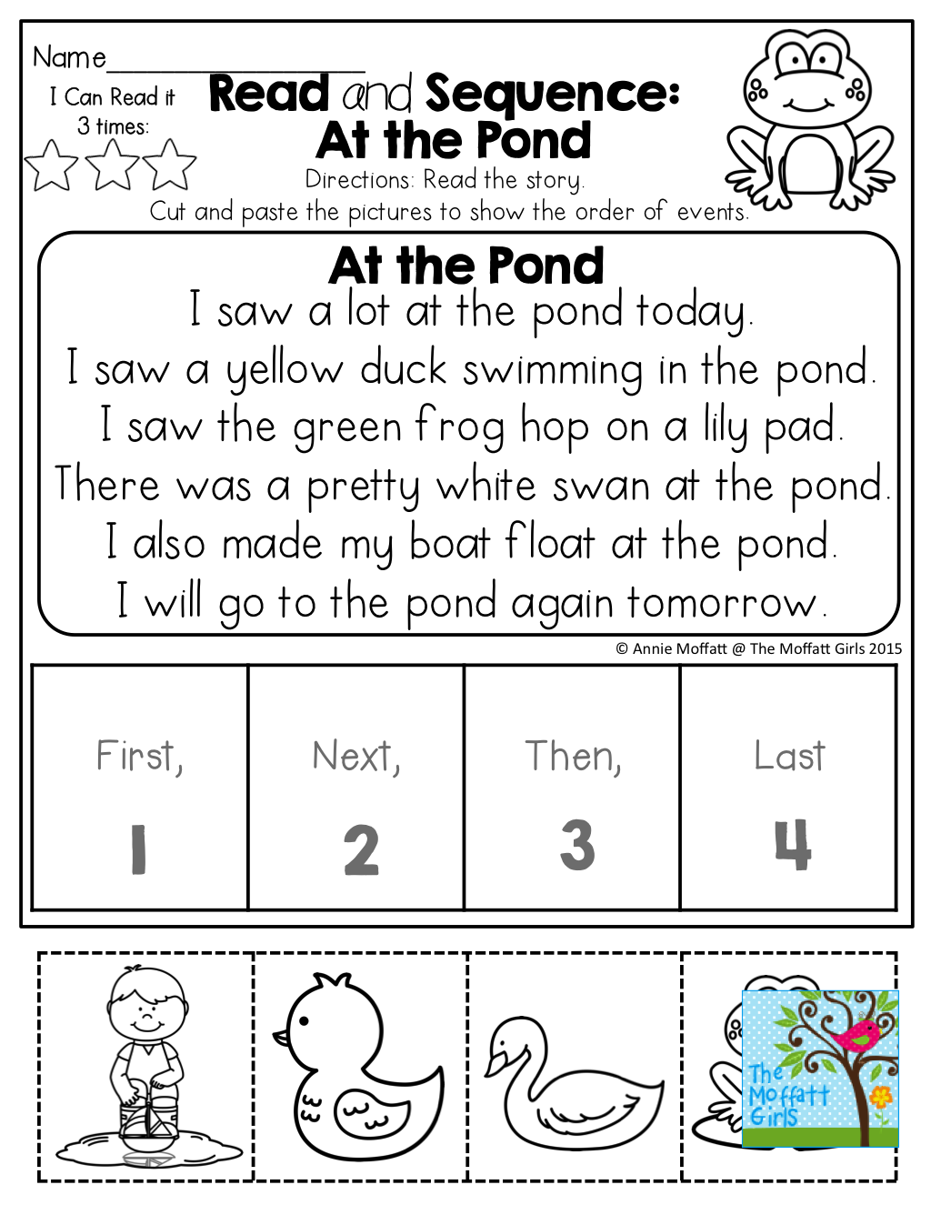 Read And Sequence! Read The Simple Story, Cut And Paste The