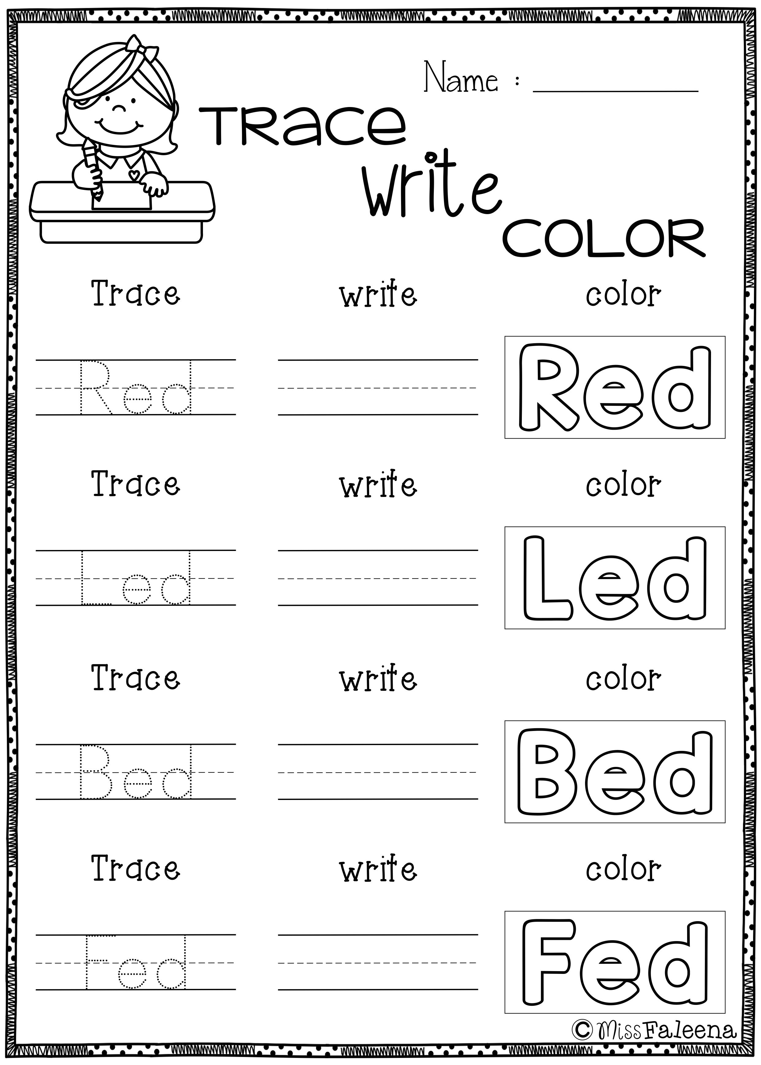 Reading Phrases Worksheets For Kindergarten 355098