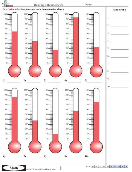 Reading Thermometer Worksheet Answers The Best Worksheets Image