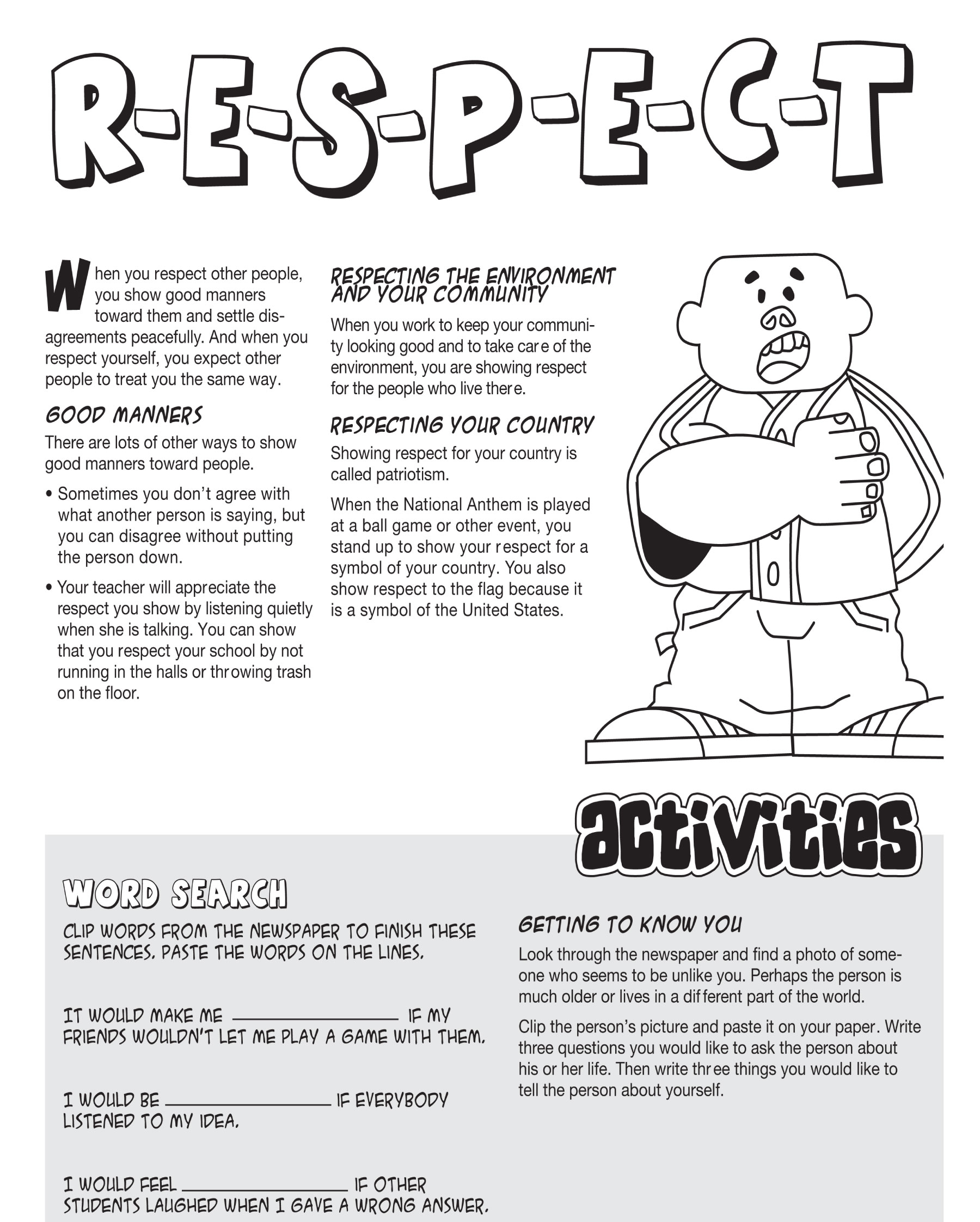 Respect Worksheets For Teenagers Images