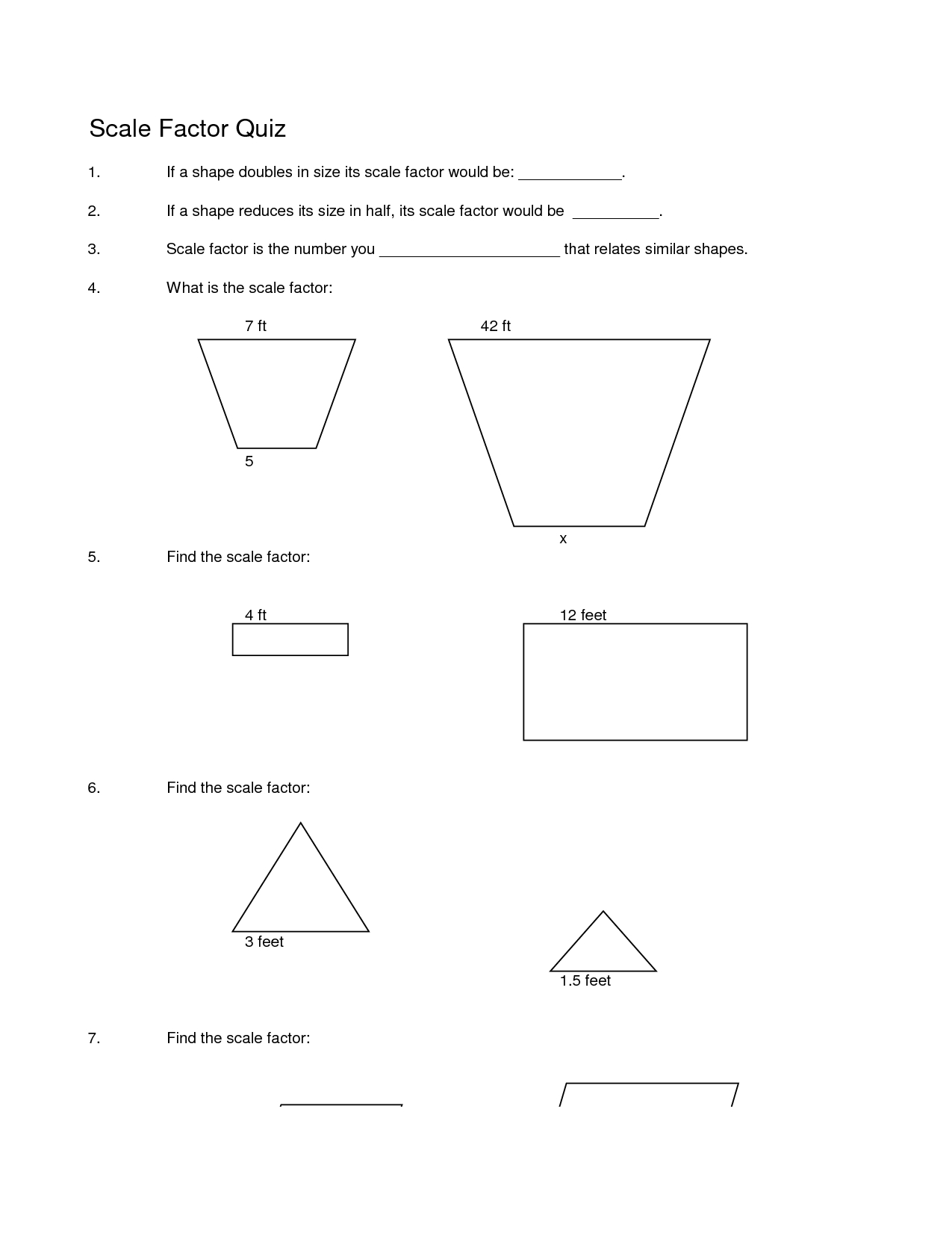 Scale Worksheetth Grade Geologic Time Problems Drawing Factor