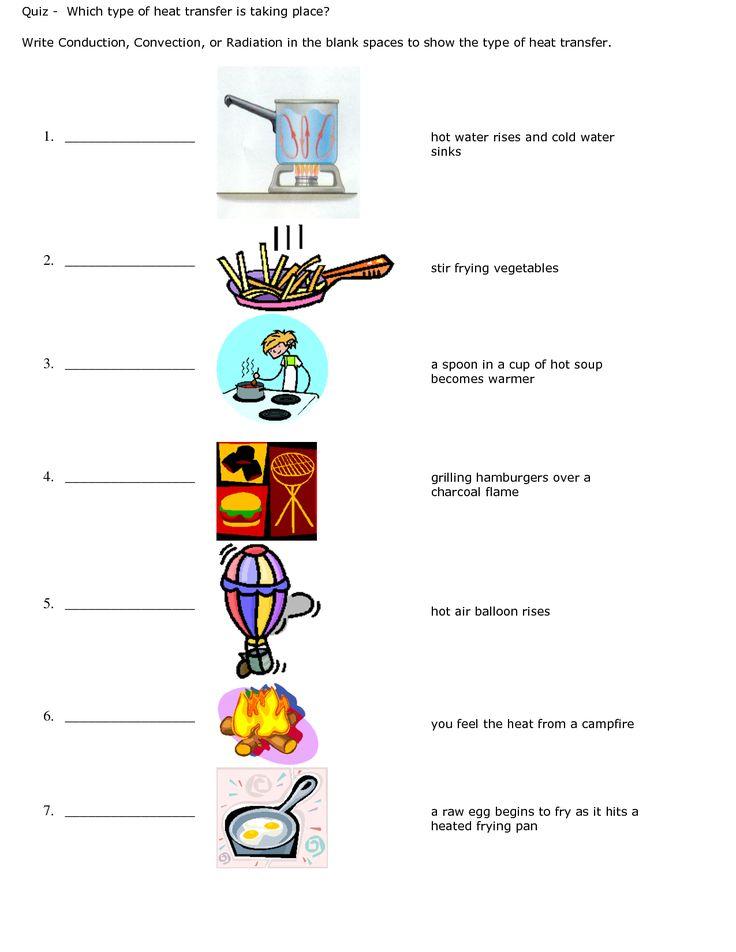 Science Worksheet On Heat Energy