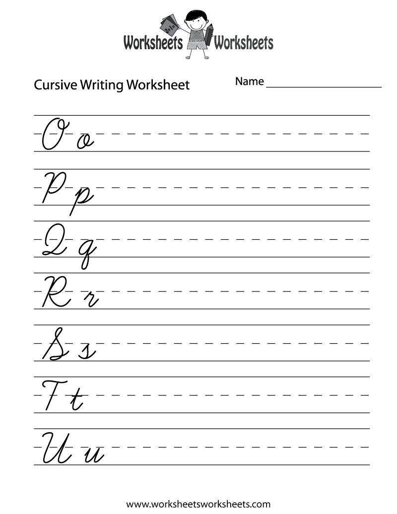 Second Grade Handwriting Worksheets