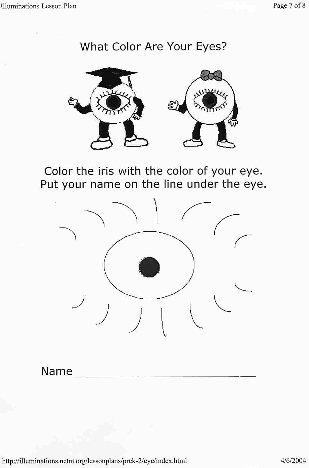 Sense Of Sight Worksheet The Best Worksheets Image Collection