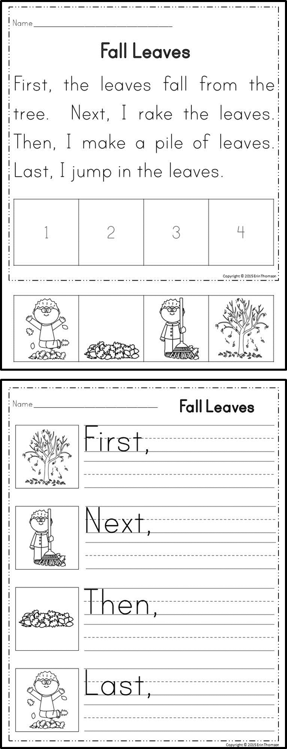 Sequencing Stories ~ First, Next, Then, Last {set 1