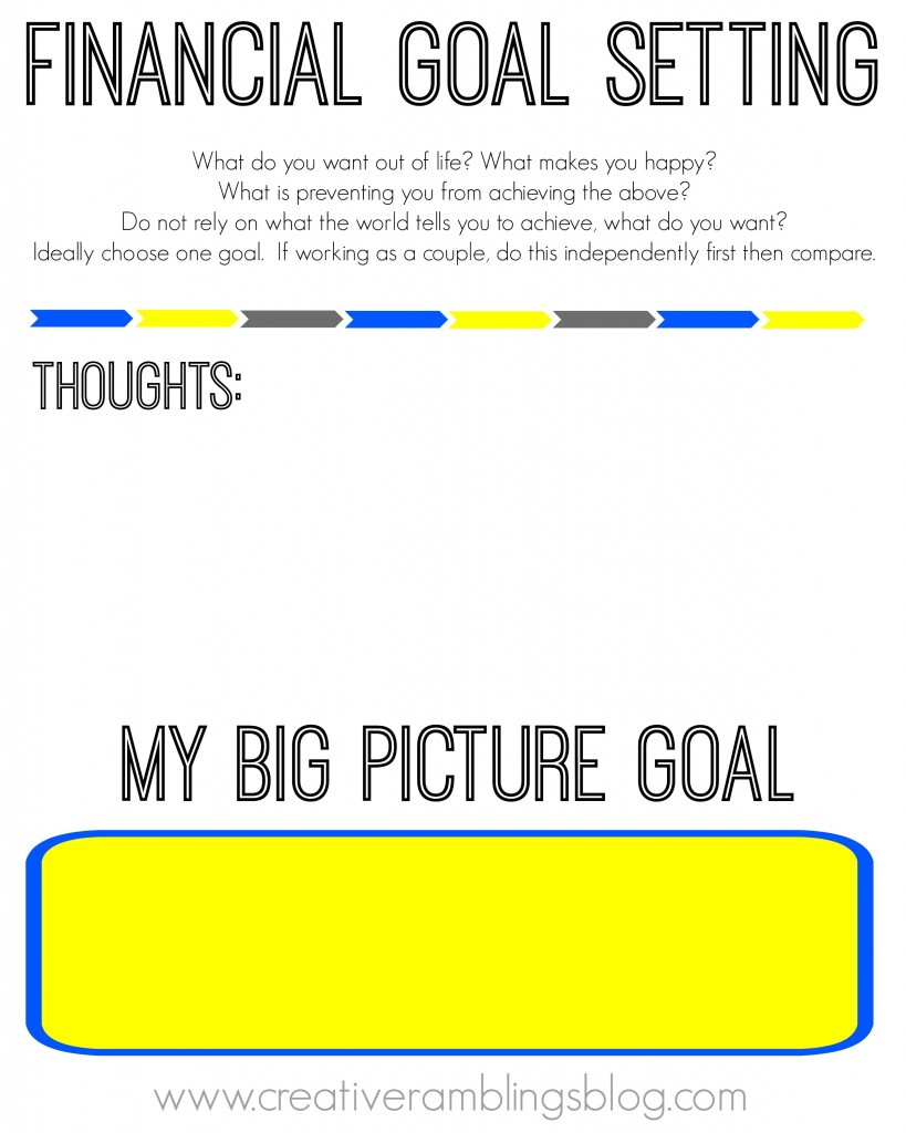 Setting Financial Goals With Free Printable Worksheets