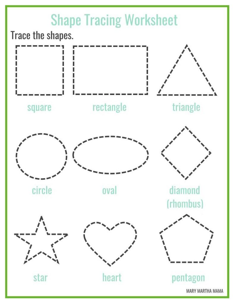 Shape Trace Worksheets