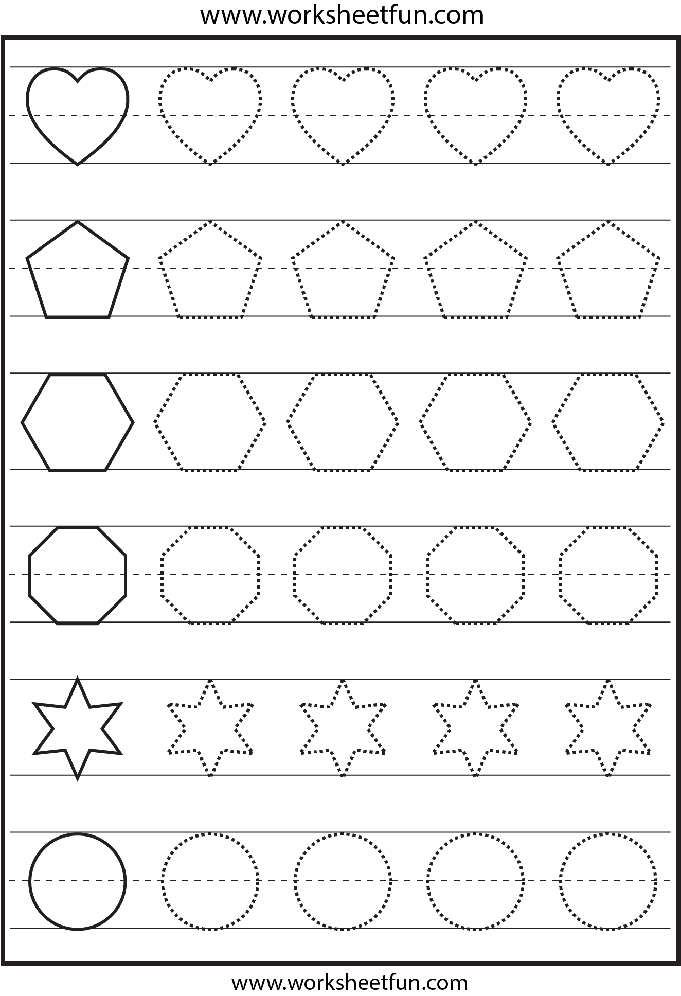 Shapes Tracing Worksheet The Best Worksheets Image Collection