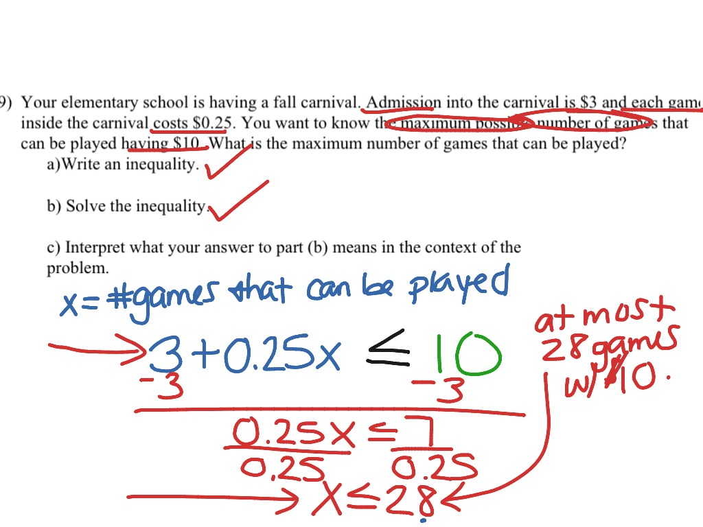 Showme Rational Inequalities Word Problems Math Worksheet 6th