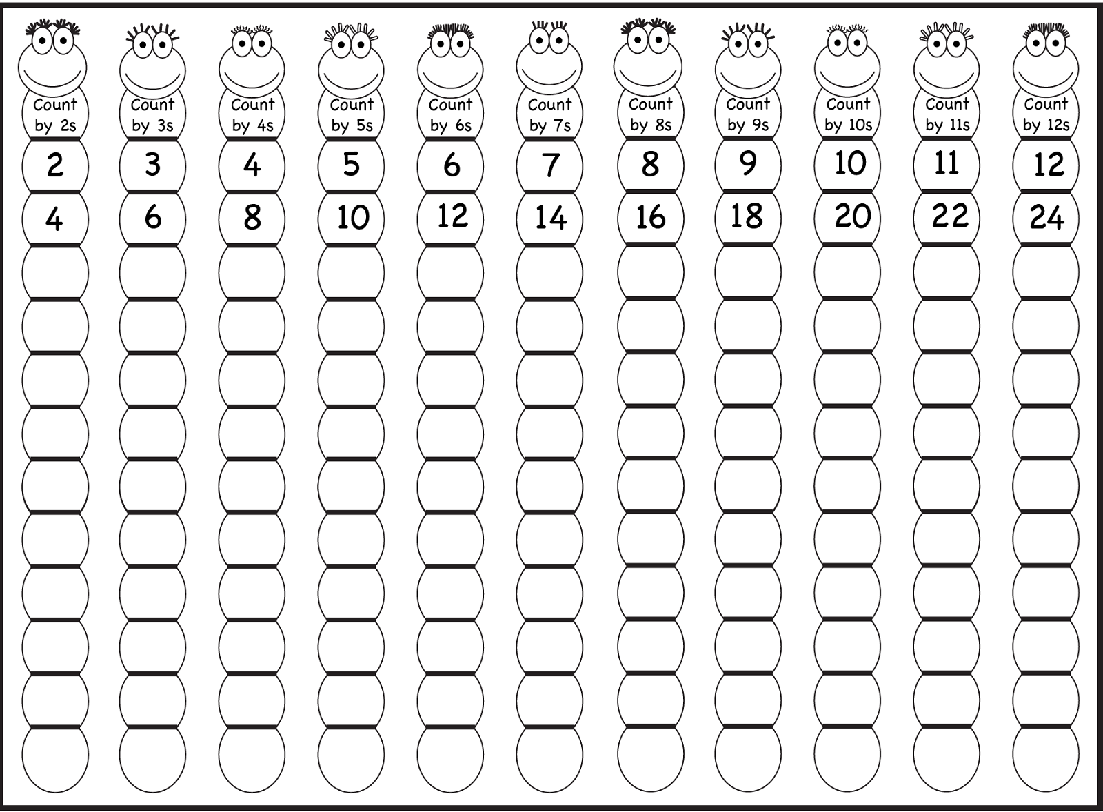 Skip Count By 5 Worksheet 2016 Kiddo Shelter Math Counting Free