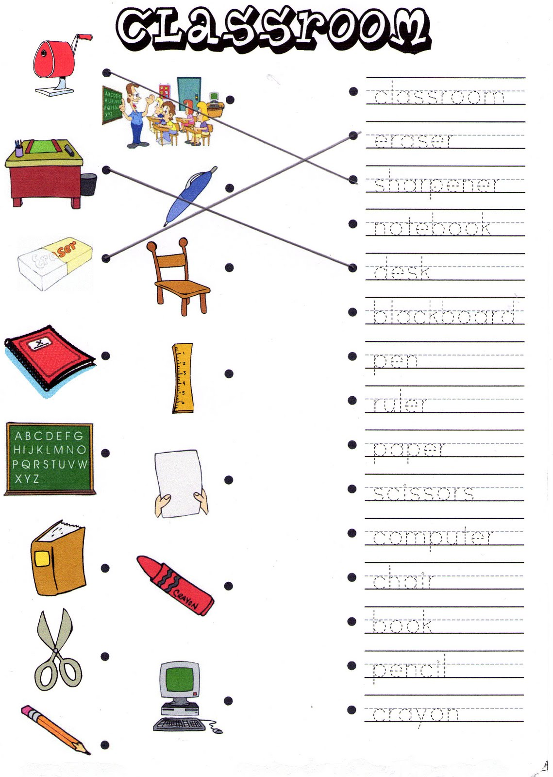 Spanish Classroom Objects Worksheet The Best Worksheets Image