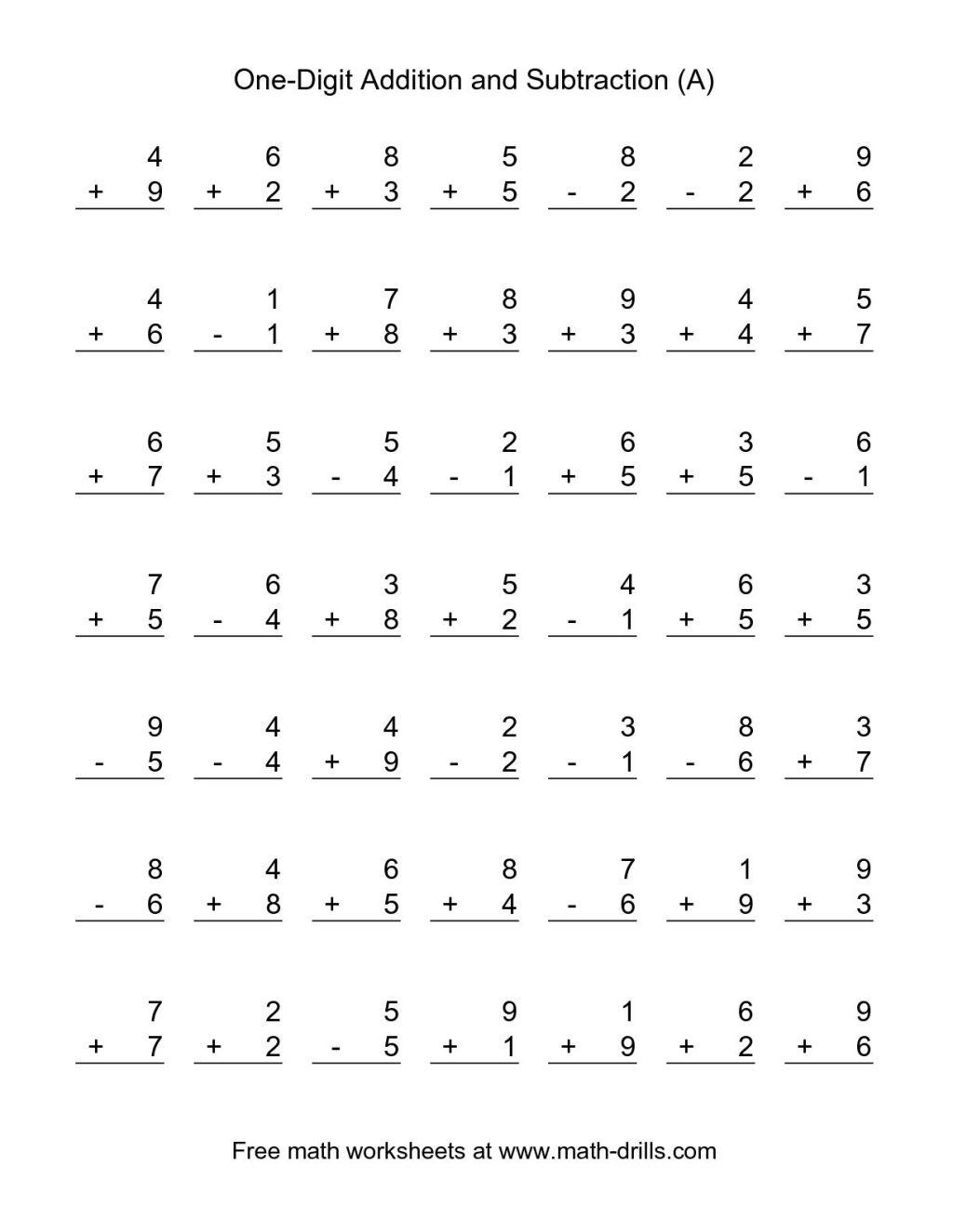 Subtractions  Subtraction Worksheet 1st Grade Worksheets Printable