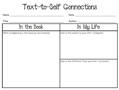 Text To Text Connections Worksheets The Best Worksheets Image