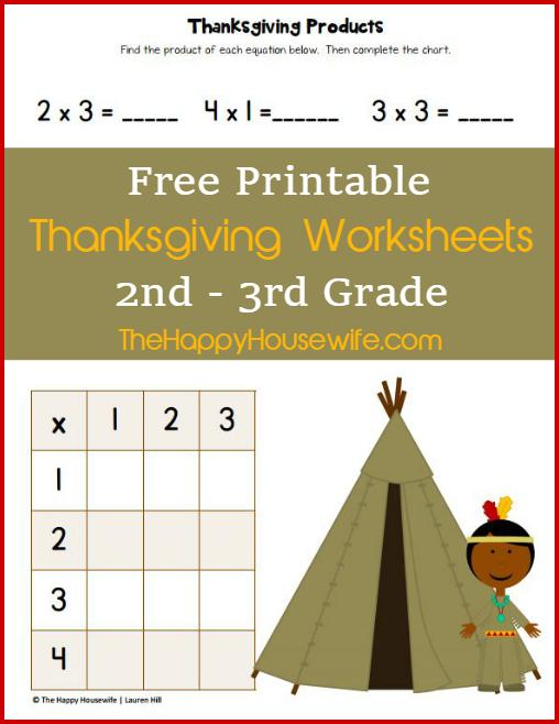 Thanksgiving Math Worksheets 3rd Grade Free 584487