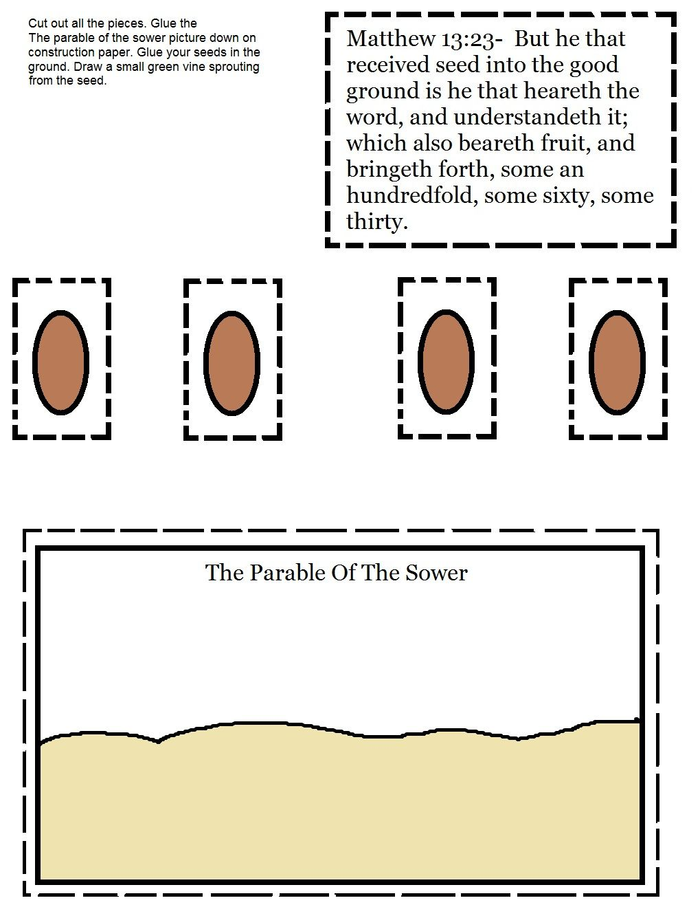 The Parable Of The Sower Activity Sheet Jpg (1019×1319)