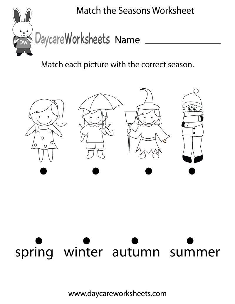 The Seasons Worksheets Pdf