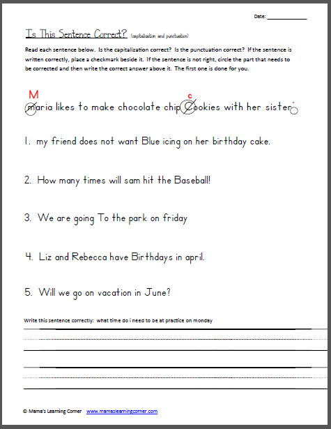 Third Grade Editing Worksheets The Best Worksheets Image