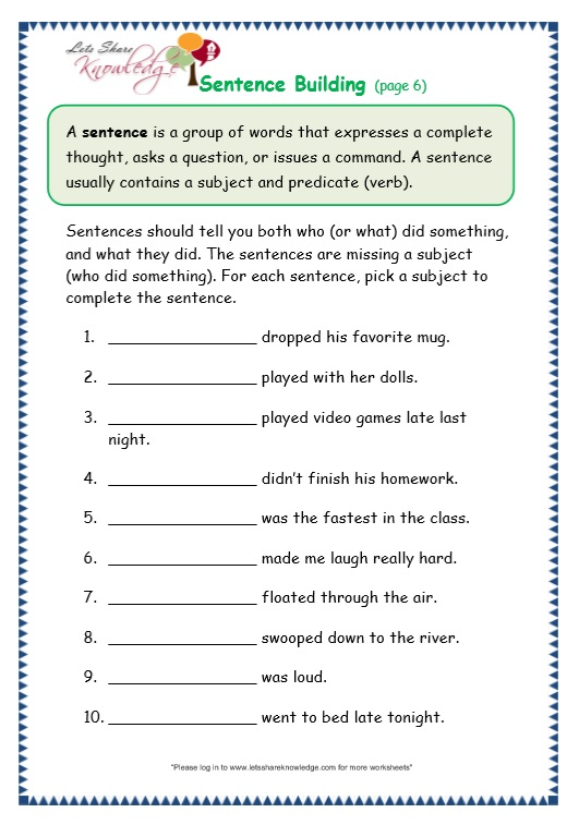 Topic Sentences Worksheets 3rd Grade The Best Worksheets Image