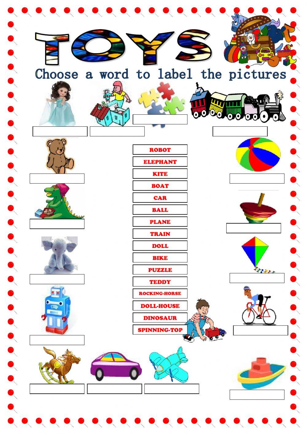 Toys Vocabulary