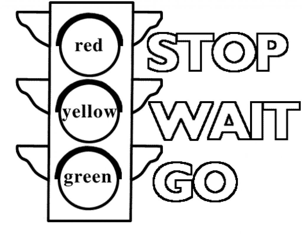 Traffic Light Signs Coloring Pages Printable Coloring Pages For