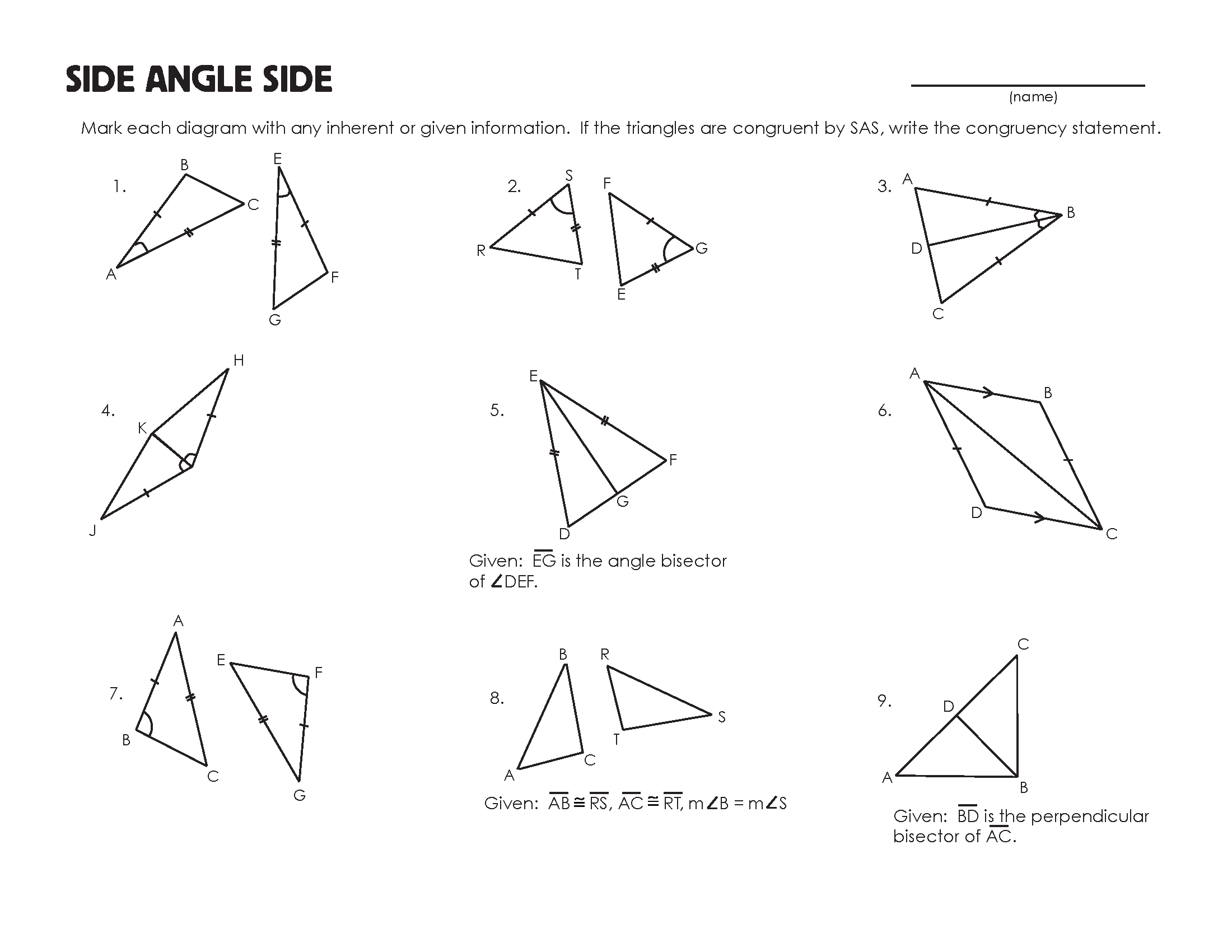 Triangle Congruence Practice Worksheet The Best Worksheets Image