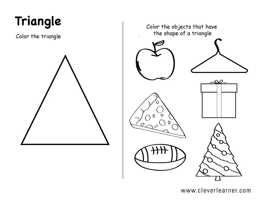 Triangle Worksheets For Preschoolers The Best Worksheets Image