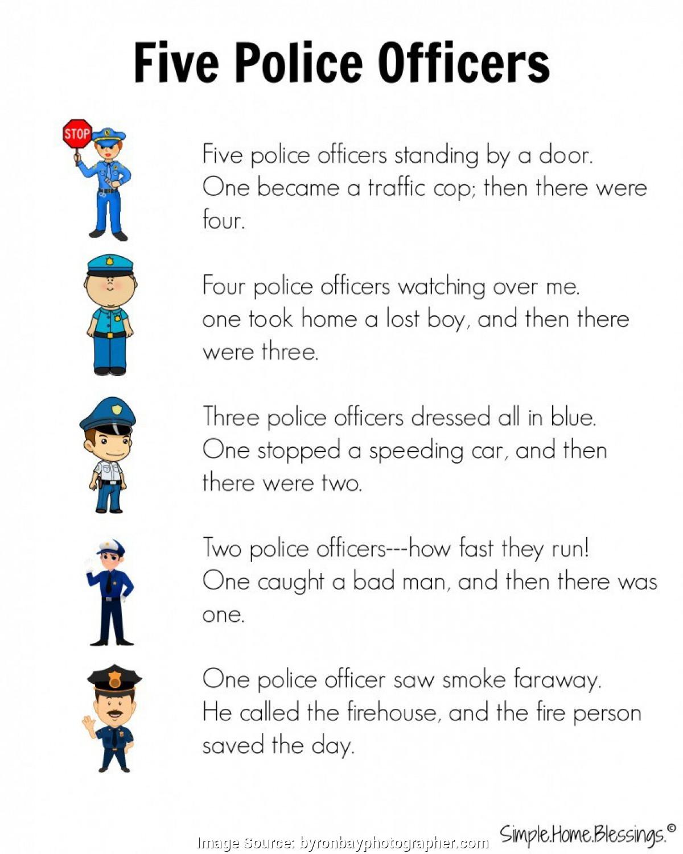Typical Community Helpers Police Officer Worksheet Spelndid Police