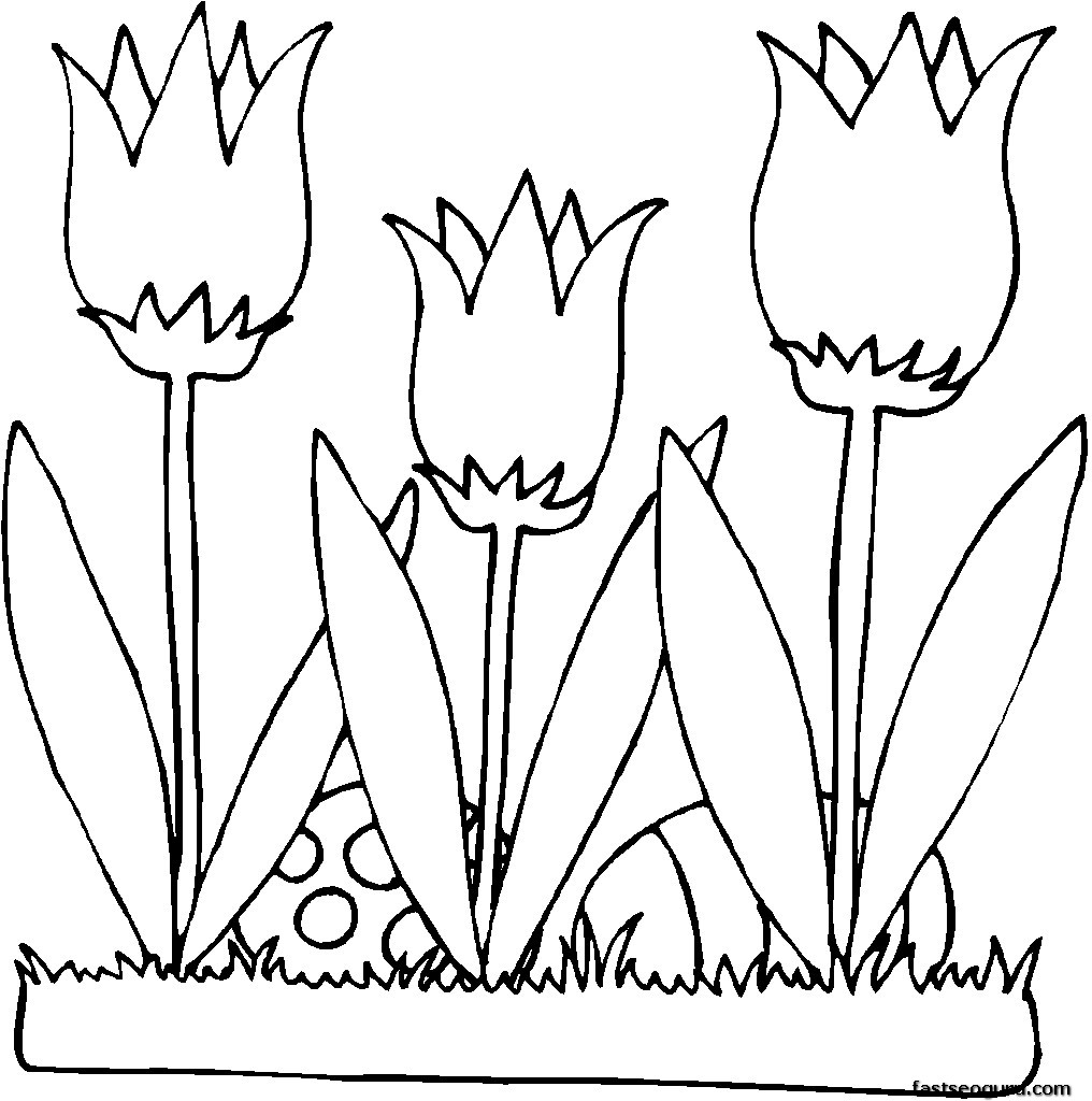 Unique Printable Flower Coloring Pages Free Collection