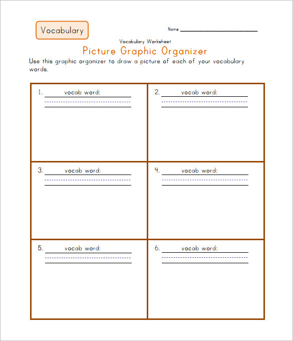 Vocabulary Worksheet Template Pdf 344386