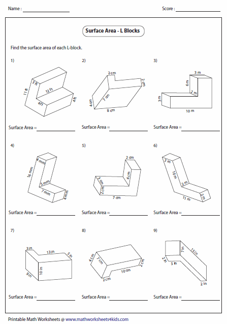 Volume Of Irregular Rectangular Prism Worksheet The Best