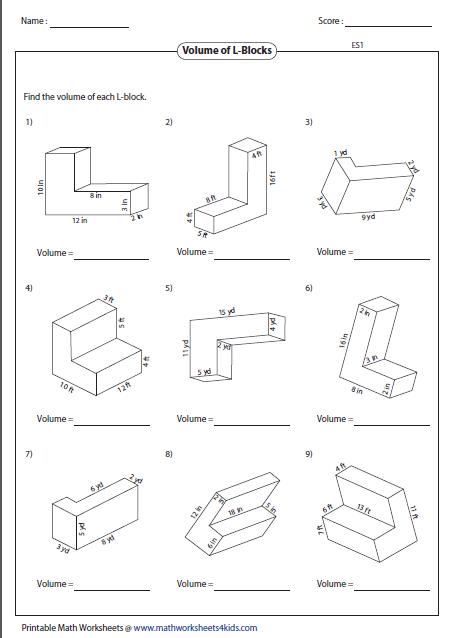 Volume Worksheets Of Composite Figures Worksheet