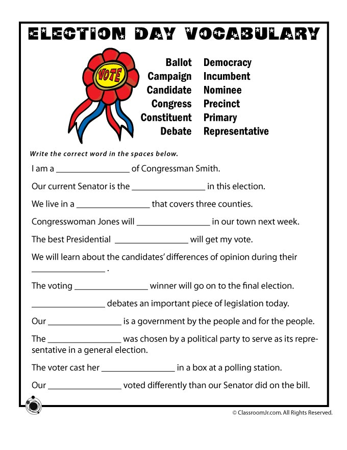 Voting And Elections Worksheet The Best Worksheets Image