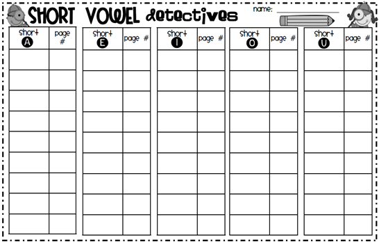 Vowel Worksheets For 1st Grade The Best Worksheets Image