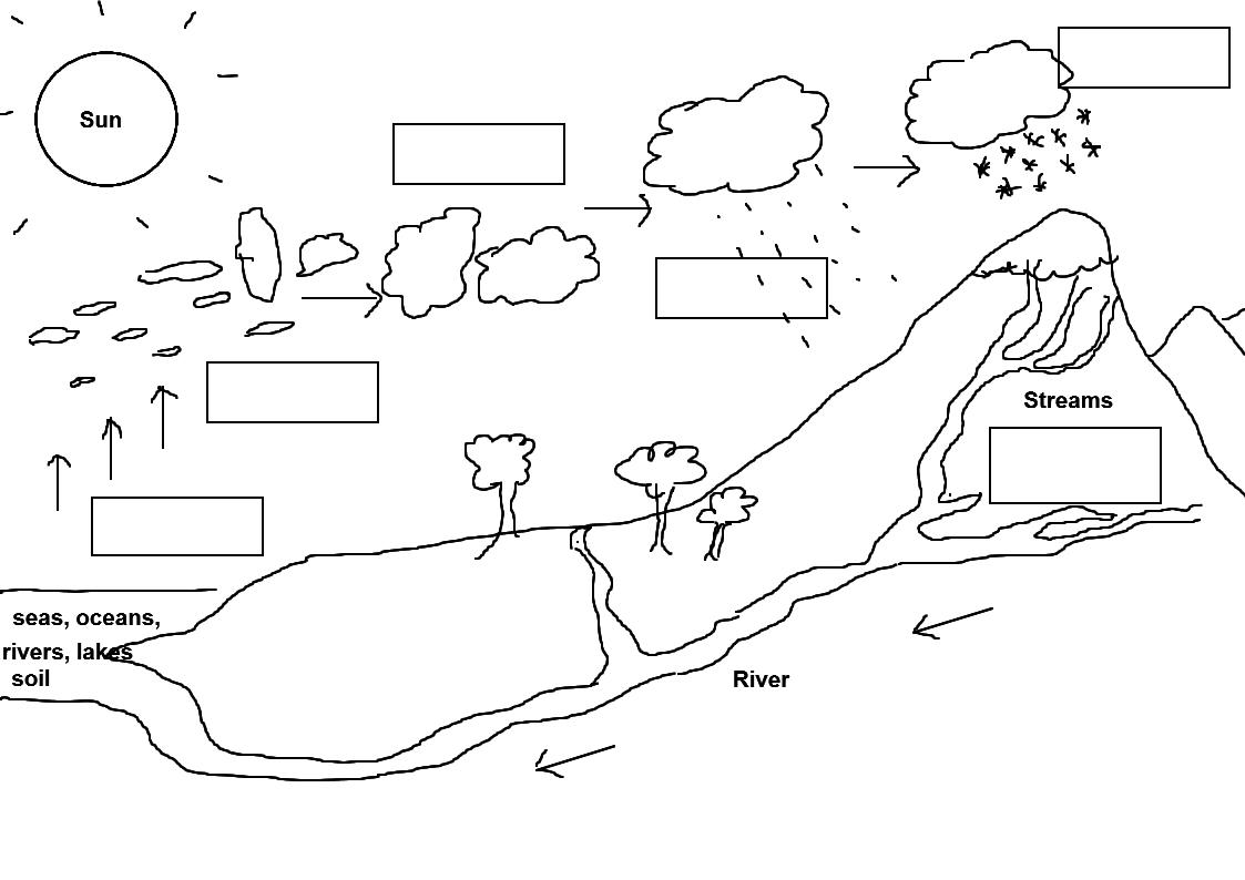 Water Cycle Worksheet Pdf 4th Grade Water Cycle Worksheet Fill In