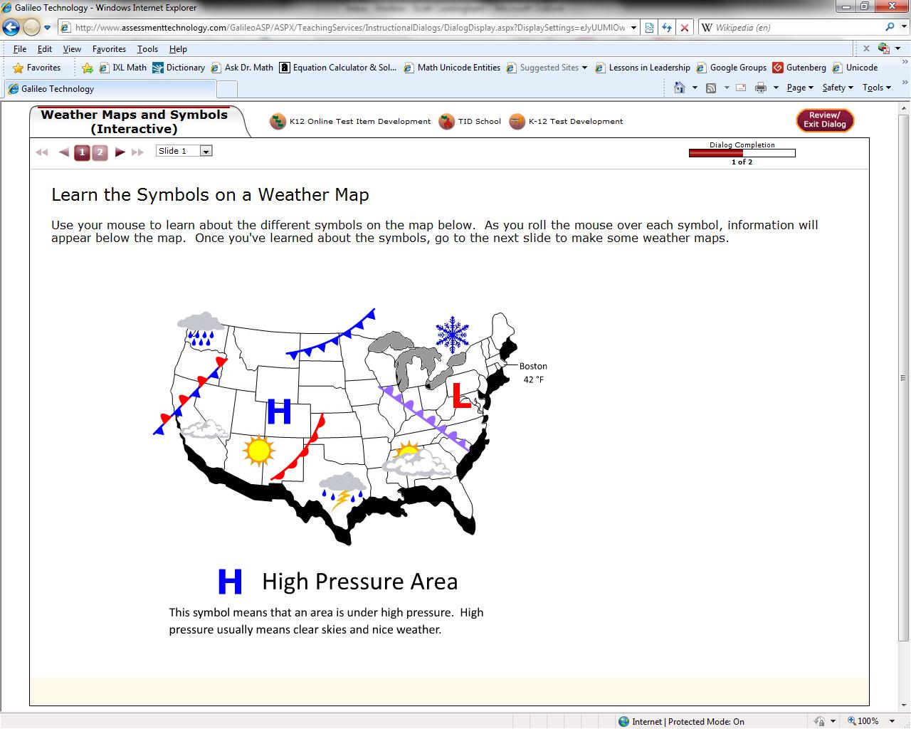 Weather Map Worksheet
