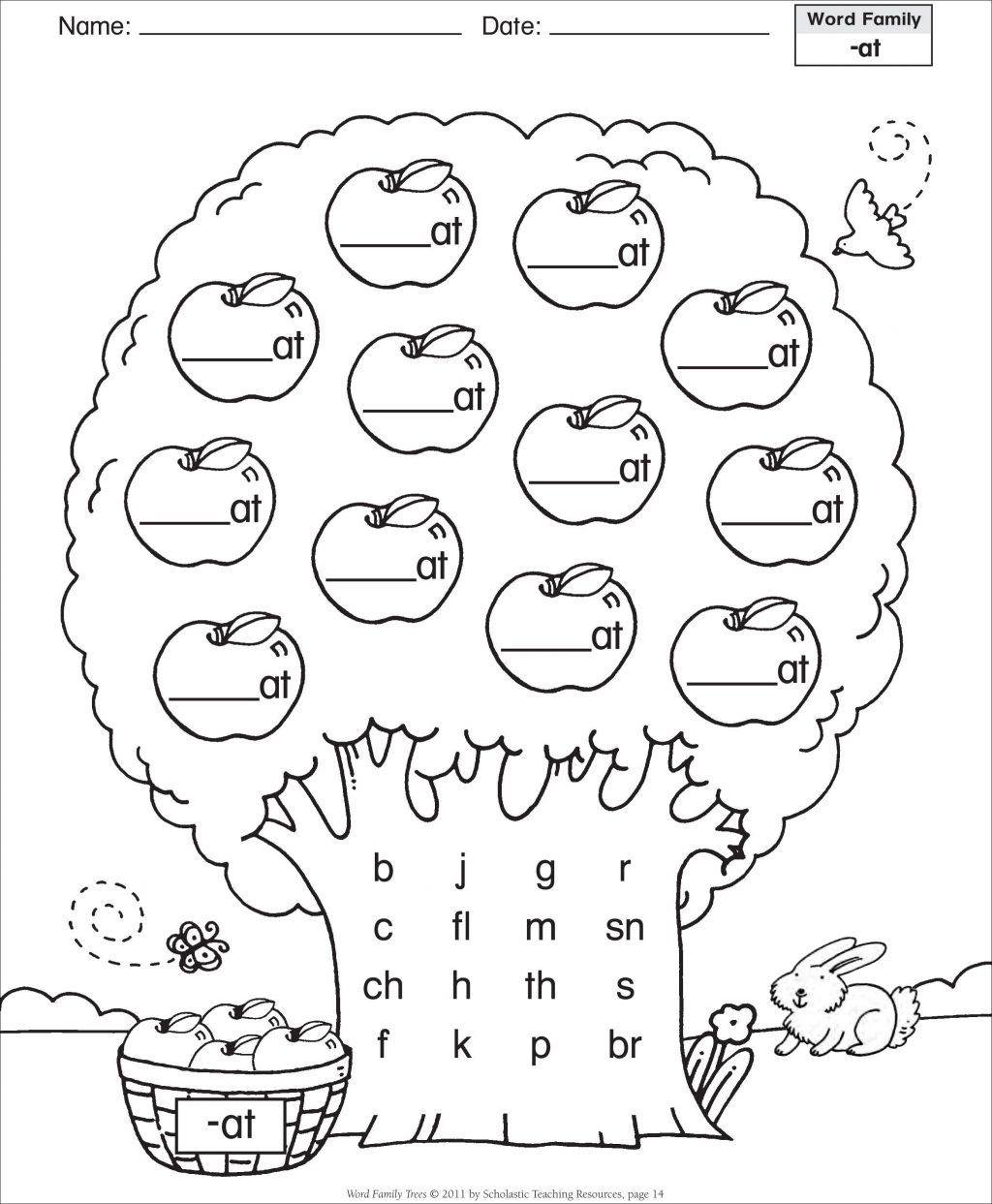 Word Family Worksheets With Pictures Beautiful Am Word Family