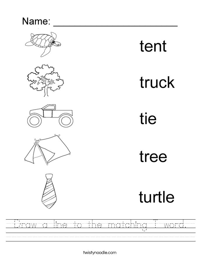 Worksheet For Letter T