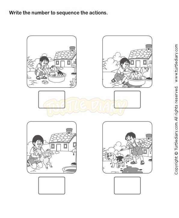 Worksheet For Preschoolers Sequencing