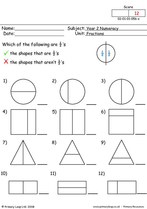 Worksheet For Year 2