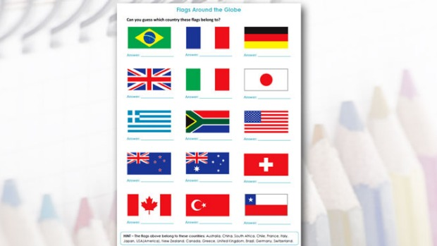 World Flags Worksheet 335236