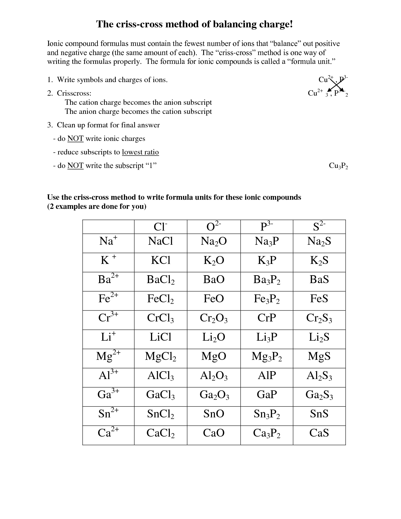 Writing Binary Formulas Worksheets Answer Key