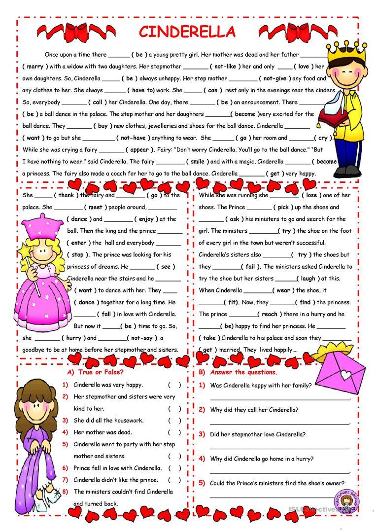 24 Free Esl Cinderella Worksheets