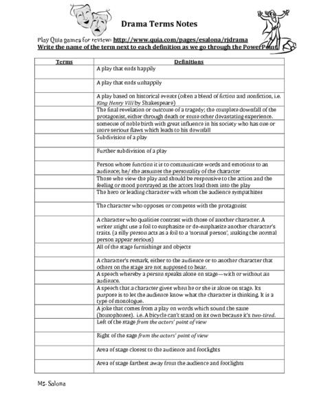 38 Drama Worksheets, 1000 Images About Binders On Worksheets Samples Recipe