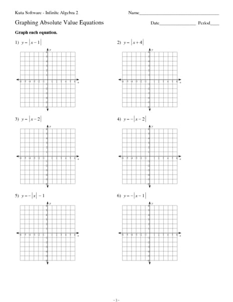 Absolute Value Graphs Worksheet 432318