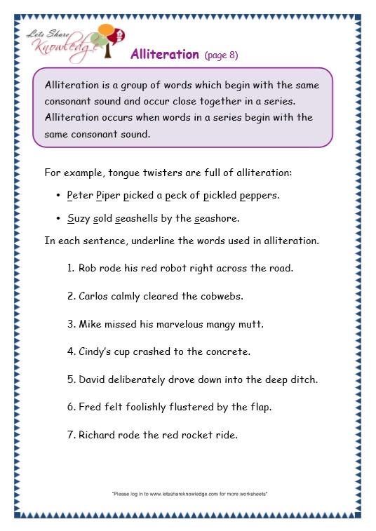 Alliteration Worksheets Ks2 The Best Worksheets Image Collection