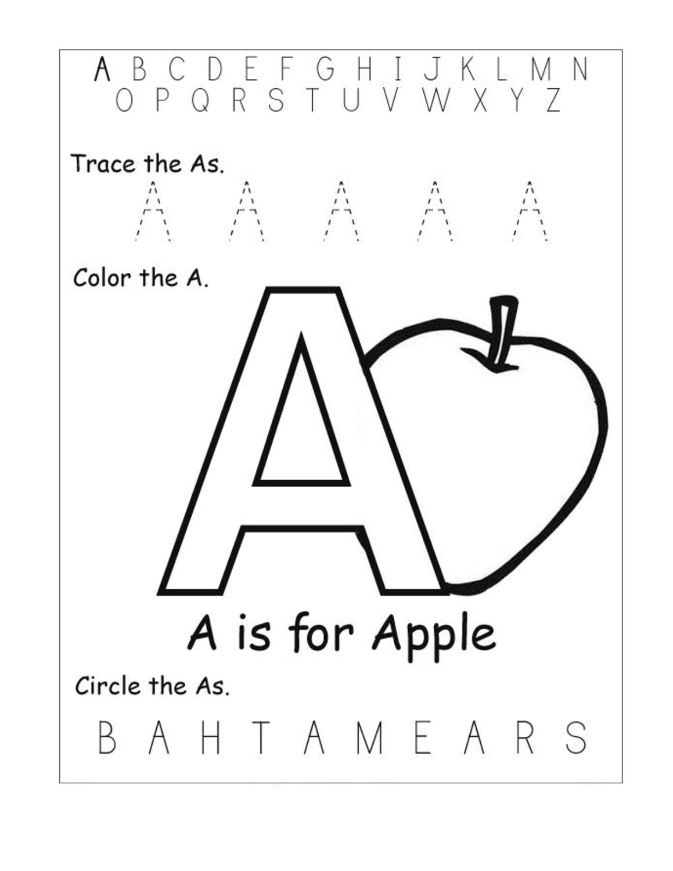 Alphabet Letter Worksheets Kindergarten – Printable Shelter