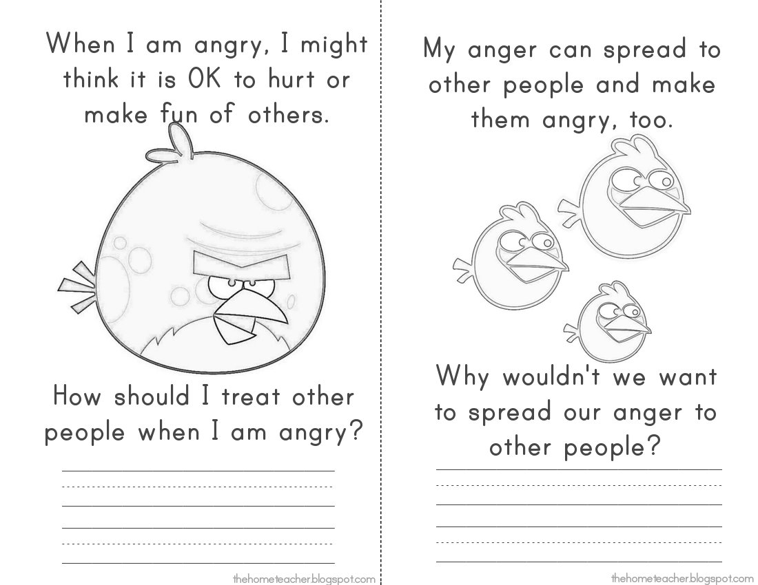 Angry Birds Anger Management Worksheets The Best Worksheets Image