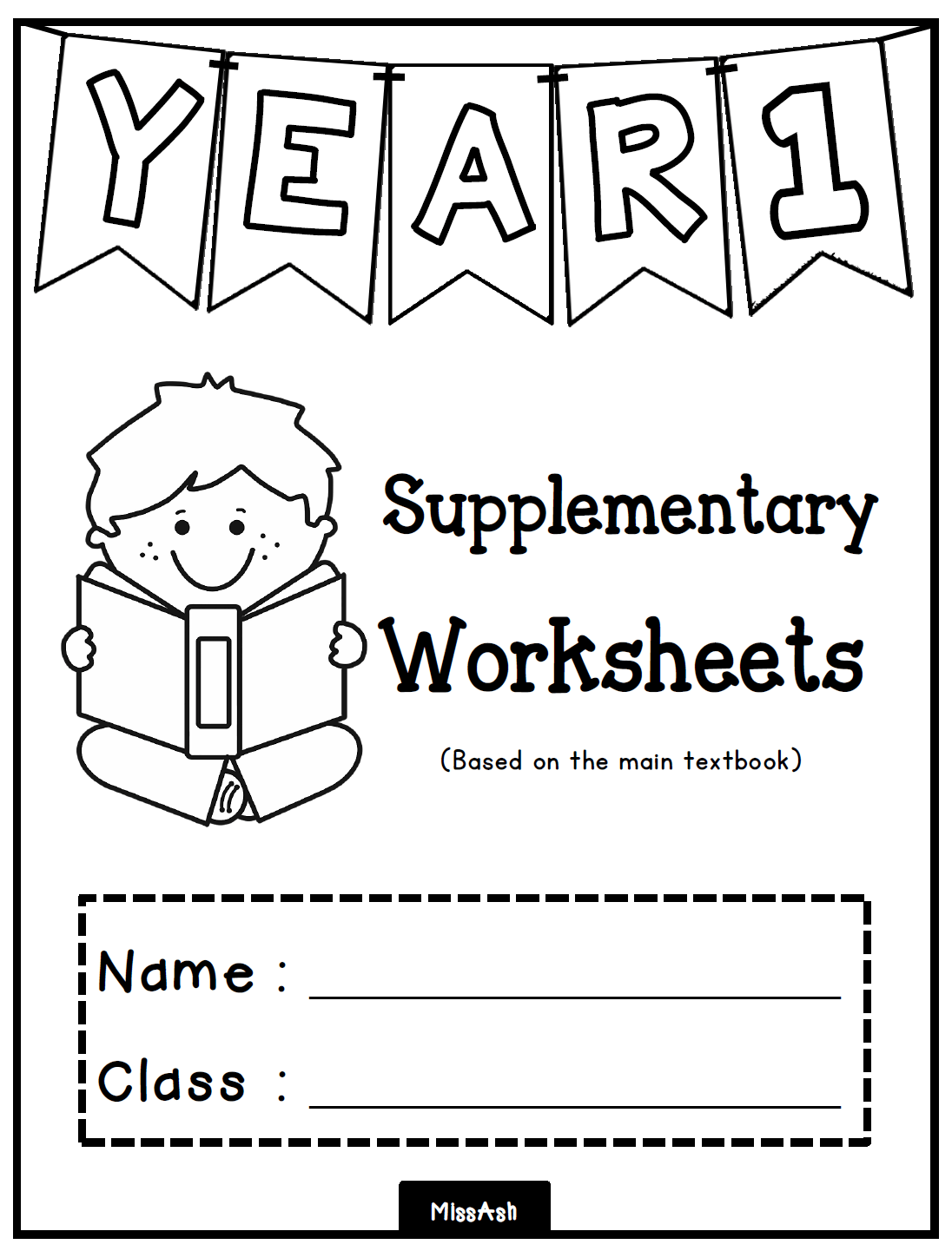 Ash The Teacher  Year 1 Supplementary Worksheets (unit 0