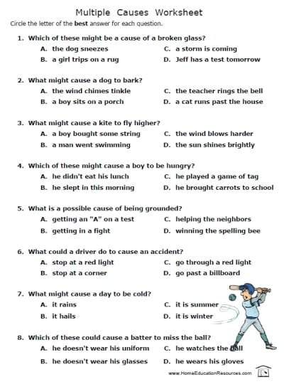 Cause And Effect Worksheets For 5th Grade 69947